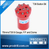 Round Button Threaded Drill Bits (t38)