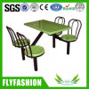Cheap Price Canteen Workers Dining Table and Chair for Sale