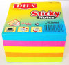 High Quality 500sheets Neon Paper Cube Sticky Notes for Home and Office Dh-900