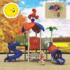 Big Amusement Park Equipment Huge Slides Rotational Mould Outdoor Children Playground Climbing Stone