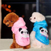 Two Colors Panda Waistcoat for Dogs