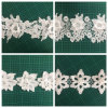 Good Quality Garment Accessories Milk Yarm Embroidery 3D Flower Lace Trimming