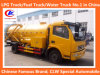 4*2 Dongfeng Sewage Suction Truck 6 Wheel Sewage Suction Truck 6000liters Sewage Suction Truck