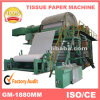 Low Cost 2100mm 8t/D Toilet Tissue Paper Making Machine, Waste Paper Recycling Machinery