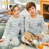 Size 140-175 Children Long Sleeves Clothes Teen Boys Girls Cotton 2PCS Sets Sleepwear Kids Long Johns Pajamas