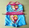 Lovely Red Printing Two Piece Swimsuit for Girls, Kids Bikini Swimwear