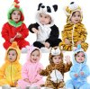 Unisex Baby Romper Jumpsuit Winter and Autumn Flannel Costume Animal Outfits
