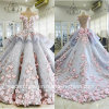 Flowers Wedding Ball Gowns Blue Quinceanera Bridal Dresses Z3033