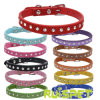 Rhinestone PU Leather Pet Collar Dog Leash