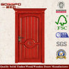 CNC Wooden Door Solid Wood Mahogany Entry Door (XS2-014)