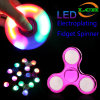 LED Electroplating Fidget Spinner High Speed 3-4minute