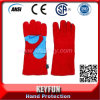 "High Quality 14"" Cow Split Leather Material Fully Lined Working Welding Gloves"