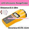Newest Hot Selling Ultrasonic Distance Meter with Laser Pointer, LCD Screen,