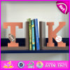 Brand New Wood Letters Bookend, Wooden Sujetalibros, Cute Wooden Letters Bookend, Wooden Letters Bookend for Student W08d060