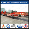 Cimc Huajun Exported 3axle Lowbed Semi Trailer with Spring Ramp