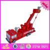 2016 Wholesale Baby Wooden Crane Truck Toy, New Fashion Kids Wooden Crane Truck Toy, Best Wooden Crane Truck Toy W04A301