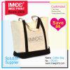 Imee Logo Custom Printed Sail Cloth Canvas Cotton Textile Fashion Tote Bag