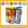 Rectangular Metal Tin Box with Airtight Lid, Cookie Metal Box