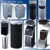 Hotel Power Coat Metal Cover with PU Leatherette Dustbin