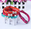 New Design Flocked Fabric Pet Dog Collar