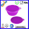 High Standard Food Grade Approved Silicone Foldable Bowl