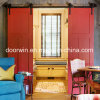 Red Paintting Cheap Pine Wood Interior Hoter Room Door From China