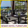 Teak Wood Table Chair Restaurant Outdoor Dining Furniture for Hotel Cafe