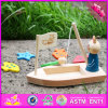 2016 New Design Kids Wooden Cat Fishing Toy W01b029