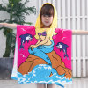 Stock Fashion 100% Polyester Microfiber Poncho and Hooded Printed Terry Towel for Bath Towels and Beach Towel