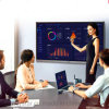"Wireless 65"" ~ 100"" Electronic Multi Touch Flat Panel Smart Board Interactive Whiteboard for Double Purpose Conference Meeting & Education Classroom"