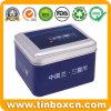 Superior Food-Safety Tinplate Tea Caddy Rectangular Metal Can Canister Tea Tin Box with Matt Varnish