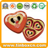 Custom Heart-Shaped Metal Tin Box for Packing Promotional Gifts