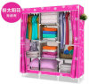 Non-Woven DIY Wardrobe Closet Large and Medium-Sized Cabinets Simple Folding Reinforcement Receive Stowed Clothes (FW-23D)