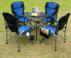 Metal Chair and Table Legs with Canopy Shade; Portable Camp