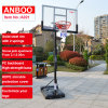Outdoor Portable Basketball Stand with Movable HDPE Base Adjustable Backboard Spring Rim