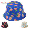 Fashion 8 Panel Children Fruit Orange Printed Bucket Hat
