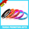 Custom Screed Printing Silicone Bracelet for Promotion Item (TH-08586)