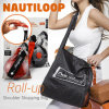 Nautiloop Shoulder Shopping Bag, Roll up Bag, Foldable Bag