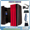 Pipe and Drape Stands with Elegant Fabric for Photo Booth