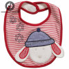 Wholesale Baby Items Plush Embroidery Beige Dog Baby Bibs