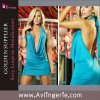 Sexy Charming Deep V Front Open Back Dress (SK02-003e)