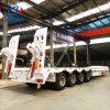 Heavy Duty 4 Axle Lowbed Truck/Semi Trailers with Rear Ladder