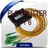 Gepon Epon FTTH Fiber Optic PLC Splitter, 1*6 Optical Coupler/ PLC Splitter