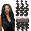 Brazilian Virgin Hair Cheap Brazilian Human Hair Body Wave Hair Weft with Frontal
