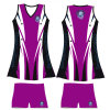 Jinfucai Sportswear Sublimated Lycra Netball Top and Short