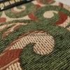 Green Color Chenille Jacqaurd Fabric for Furniture (FTH31406)