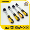 High Quality Anti-Slip Rubber Bent Handle Quick Release Ratchet Wrench