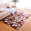 Modern Printing Living Room Carpet with Sponge Sandwich Plastic Dropping Backing