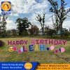 Happy Birthday Letters Yard Sign with Stakes Yard Cards