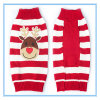 Pet Product Christmas Elkteddy Striped Sweater Dog Clothes